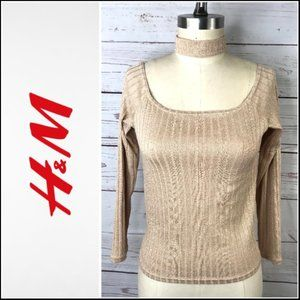 *3/$18*Divided by H&M Gold Long Sleeve Top